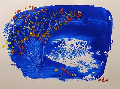 A Burst Of Autumn Art Print by Mary Carol Williams