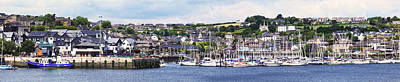 A Busy Harbour And Waterfrontkinsale Print by Peter Zoeller