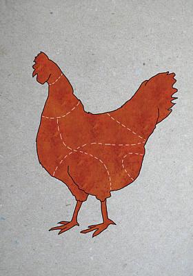 Digital Art - A Butchers Diagram Of A Chicken by Malte Mueller