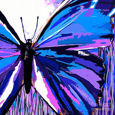 Painting - A Butterfly So Blue by Saundra Myles
