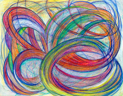 Contemporary Abstract Drawing - A By-product by Kelly K H B