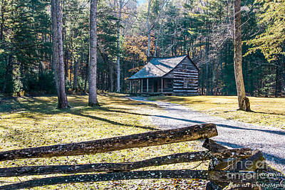 Photograph - A Cabin In Cades Cove by Marilyn Carlyle Greiner