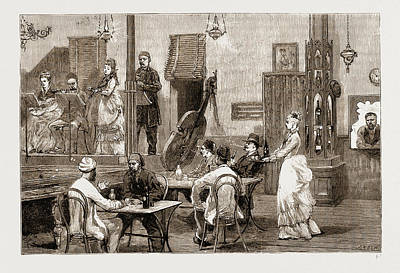Pakistan Drawing - A Cafe Chantant At Ismailia, Pakistan by Litz Collection