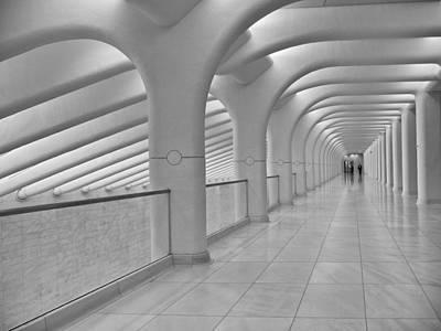 Photograph - A Calatrava Walkway by Cornelis Verwaal