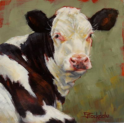Painting - A Calf Named Ivory by Margaret Stockdale