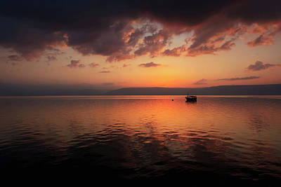 The Sea Of Tranquility Photograph - A Calm Settles On The Sea Of Galilee by Reynold Mainse