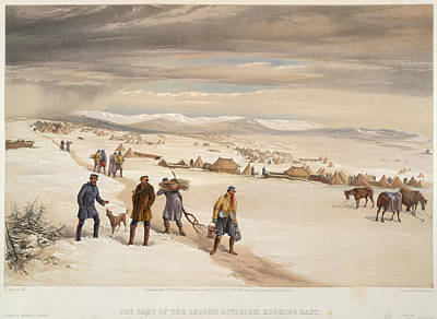 A Camp In The Snow Art Print by British Library