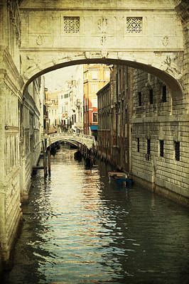 Photograph - A Canal In Venice by Ethiriel  Photography