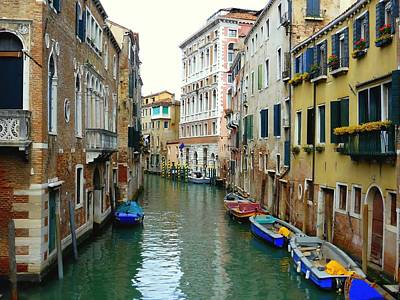 A Canal In Venice Art Print by Bishopston Fine Art
