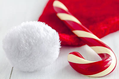 Photograph - A Candy Cane For Santa by Teri Virbickis
