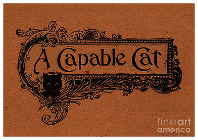 Cut Out Drawing - A Capable Cat Sign by Pierpont Bay Archives