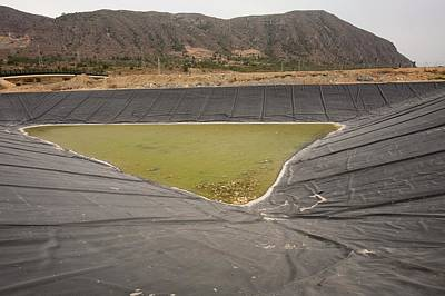 Alicante Photograph - A Capture Pond On A Landfill Site by Ashley Cooper