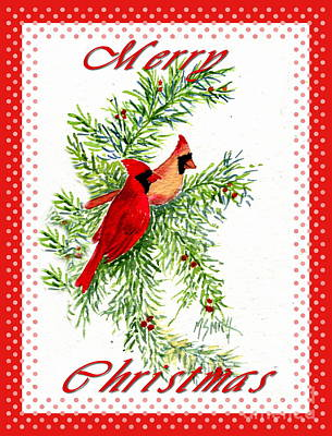 Painting - A Cardinal Christmas by Marilyn Smith