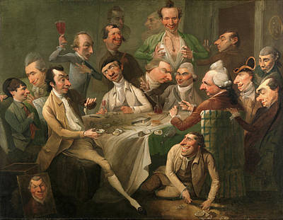 Including Painting - A Caricature Group A Caricature Group Including Members by Litz Collection