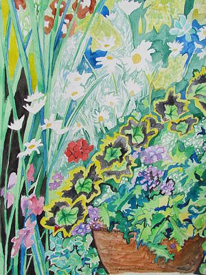 Painting - A Cascade Of Flowers by Esther Newman-Cohen