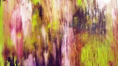 A Cascade Of Hues Art Print by Jagjeet Kaur