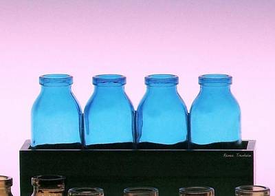 Photograph - A Case Of Blue Bottles by Renee Trenholm