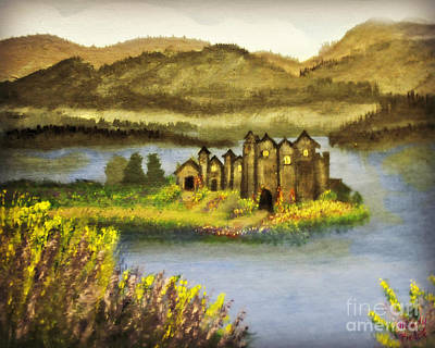 Painting - A Castle In My Dream by Mindy Bench