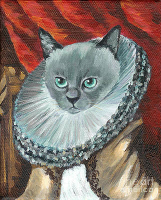 Siamese Cat Painting - A Cat Of Peter Paul Rubens Style by Jingfen Hwu