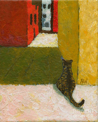 A Cat Waiting For Someone's Return Art Print