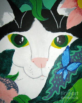 Art Print featuring the painting A Cat's Fancy by Wendy Coulson