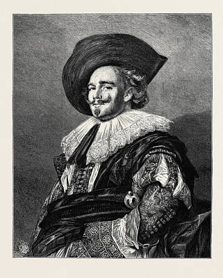 Cavaliers Drawing - A Cavalier by English School