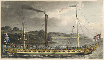 Ply Drawing - A Celebrated Thames Steamer  Plying by Mary Evans Picture Library