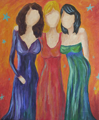 Painting - A Celebration Of Sisterhood by Kenny Francis