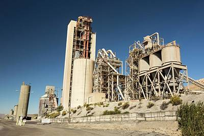 Cement Photograph - A Cement Works At Tehachapi Pass by Ashley Cooper