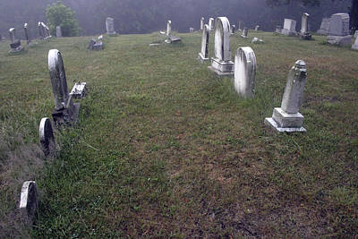 Photograph - A Cemetery In New Salem by Cora Wandel