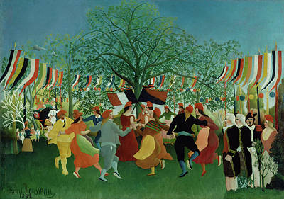 Centennial Painting - A Centennial Of Independence Henri Rousseau by Litz Collection