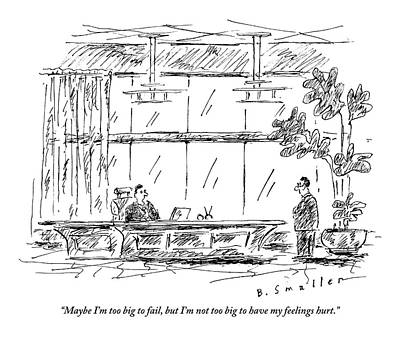 Feelings Drawing - A Ceo Bemoans His Feelings To His Employee Who by Barbara Smaller
