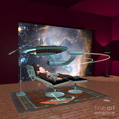 A Cgi Artist Dreams Art Print by Walter Oliver Neal