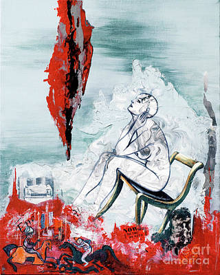 Human Condition Painting - A Chair For My Heart Please - Thank You. by Elisabeta Hermann