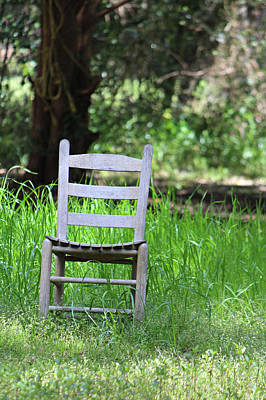 Ladder Back Chairs Photograph - A Chair In The Grass by Lynn Jordan