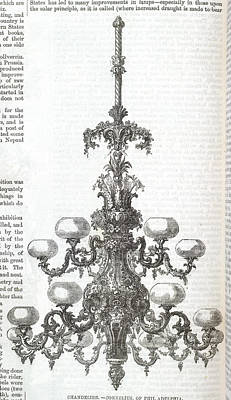 A Chandelier Print by British Library