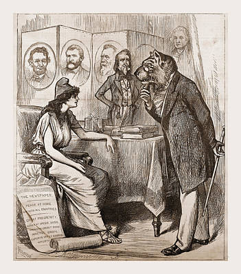 Crying Drawing - A Change Is Ecessary, Democratic Cry, 1880 by Litz Collection