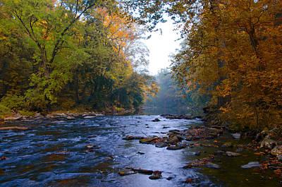 A Change Of Season Along The Wissahickon Creek Print by Bill Cannon