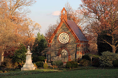 Photograph - The Chapel In Oak Hill Cemetery -- Home Sweet Home by Cora Wandel