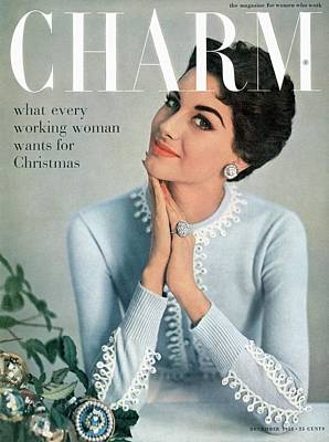 A Charm Cover Of A Model Wearing A Cardigan Art Print