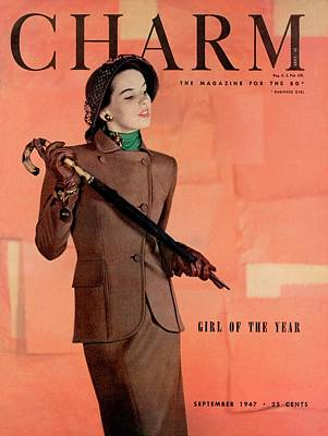 A Charm Cover Of A Model Wearing A Joselli Suit Art Print by Hal Reiff
