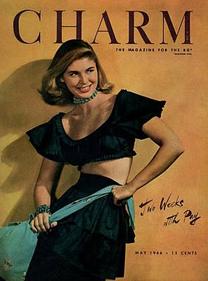 A Charm Cover Of A Model Wearing A Rhumba Top Art Print by Jon Abbot