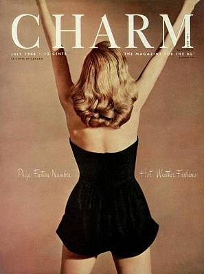 A Charm Cover Of A Model Wearing A Romper Art Print