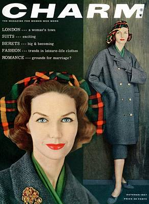 Photograph - A Charm Cover Of A Model Wearing A Winter Coat by Carmen Schiavone