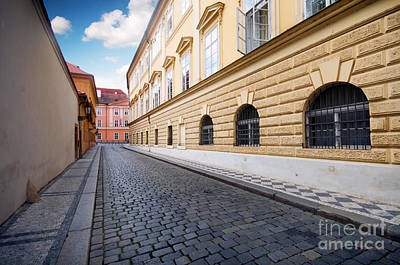 Charming Photograph - A Charming Street In Prague by Michal Bednarek
