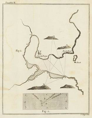 Cartographic Photograph - A Chart Of A Coastl Area by British Library