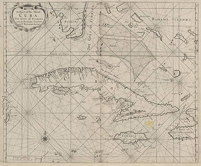 A Chart Of Cuba Art Print by British Library