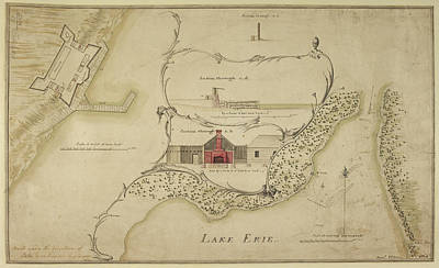 State Of Pennsylvania Photograph - A Chart Of Lake Erie by British Library