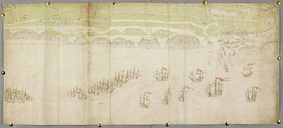 Cartography Photograph - A Chart Of The Harbour And Road Of Calais by British Library