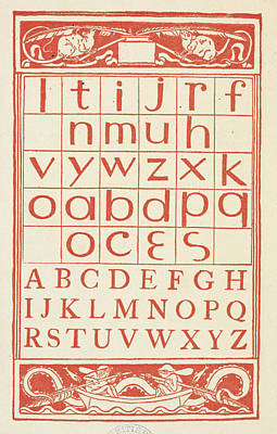 Walter Crane Photograph - A Chart Showing Letters Of The Alphabet by British Library